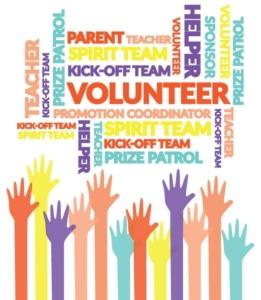 Volunteers tasks and tips - raised hands